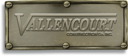 Vallencourt Constuction logo plaque